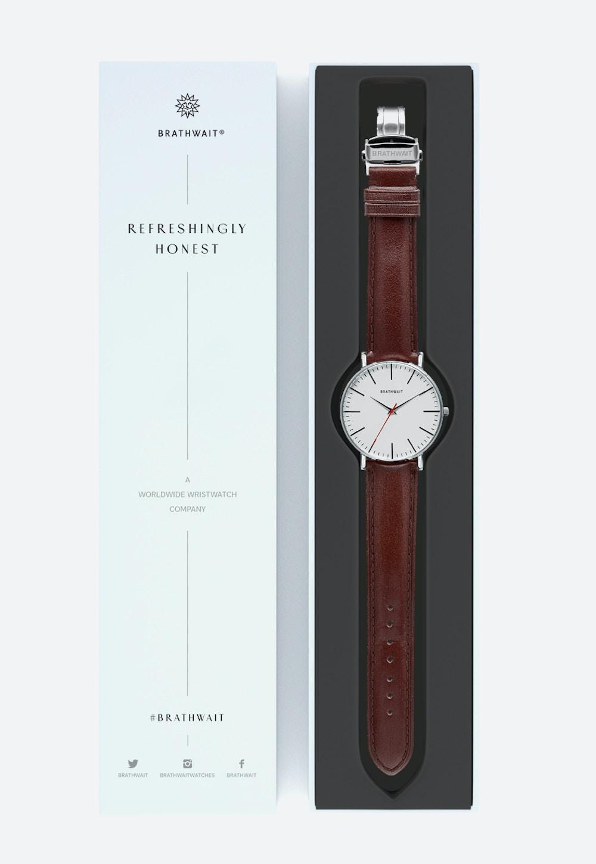 1512d74c0 Dark Brown top grain Italian leather strap: The classic slim wrist ...